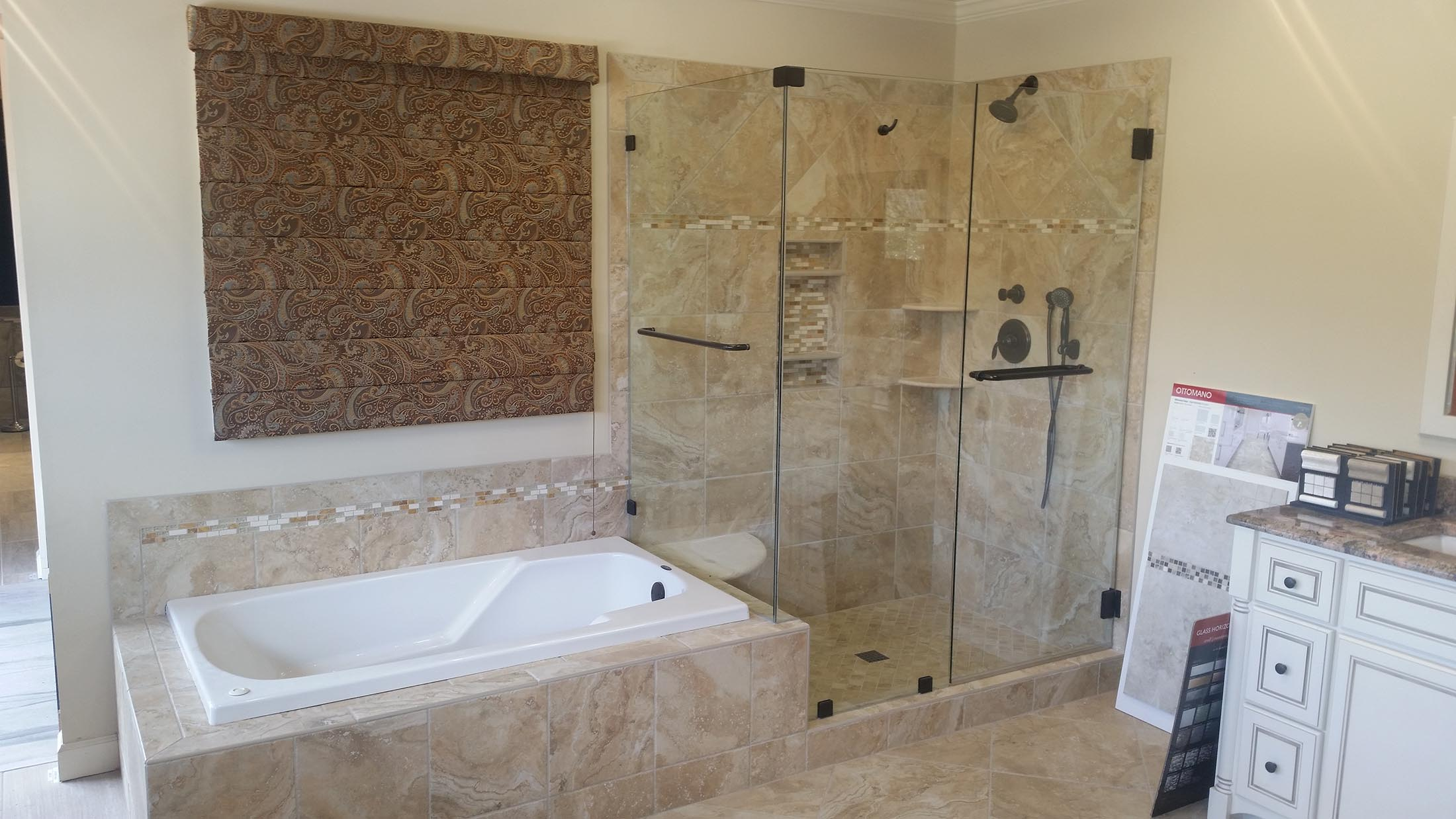 Frame-less-shower-Built-in-Tub-Cary-NC - The Bath Remodeling Center, LLC