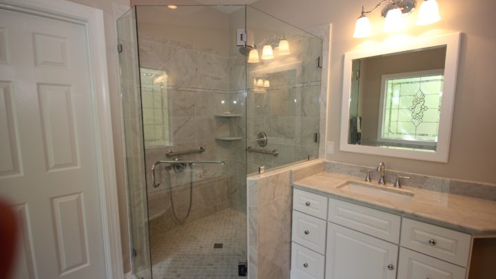 Bathroom Cary Light Cabinets