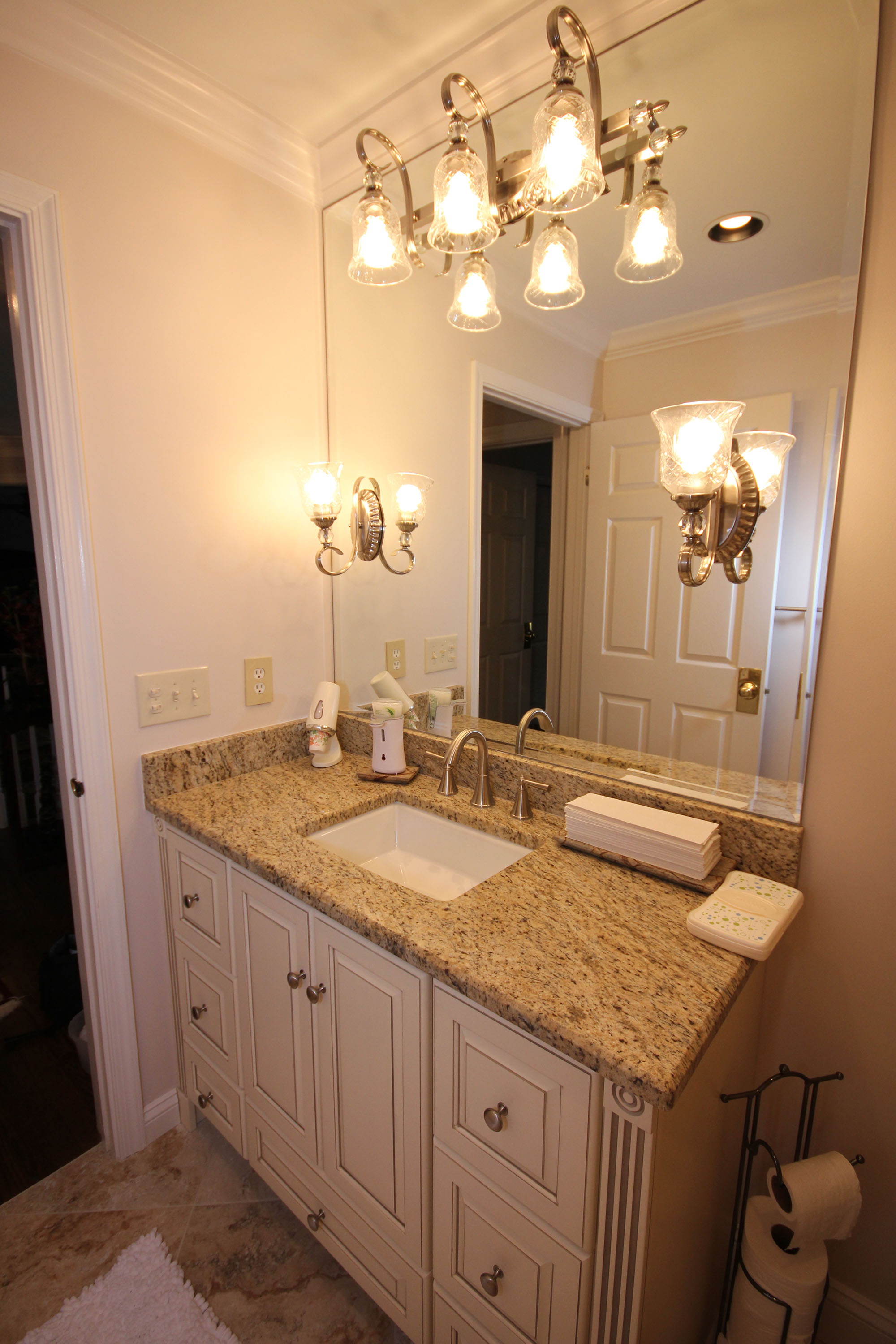 Bathroom Cabinets Raleigh light colored custom cabinets - the bath remodeling center, llc