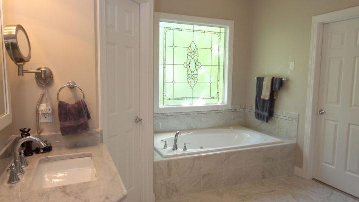Raleigh Built in Tub Bath Renovation