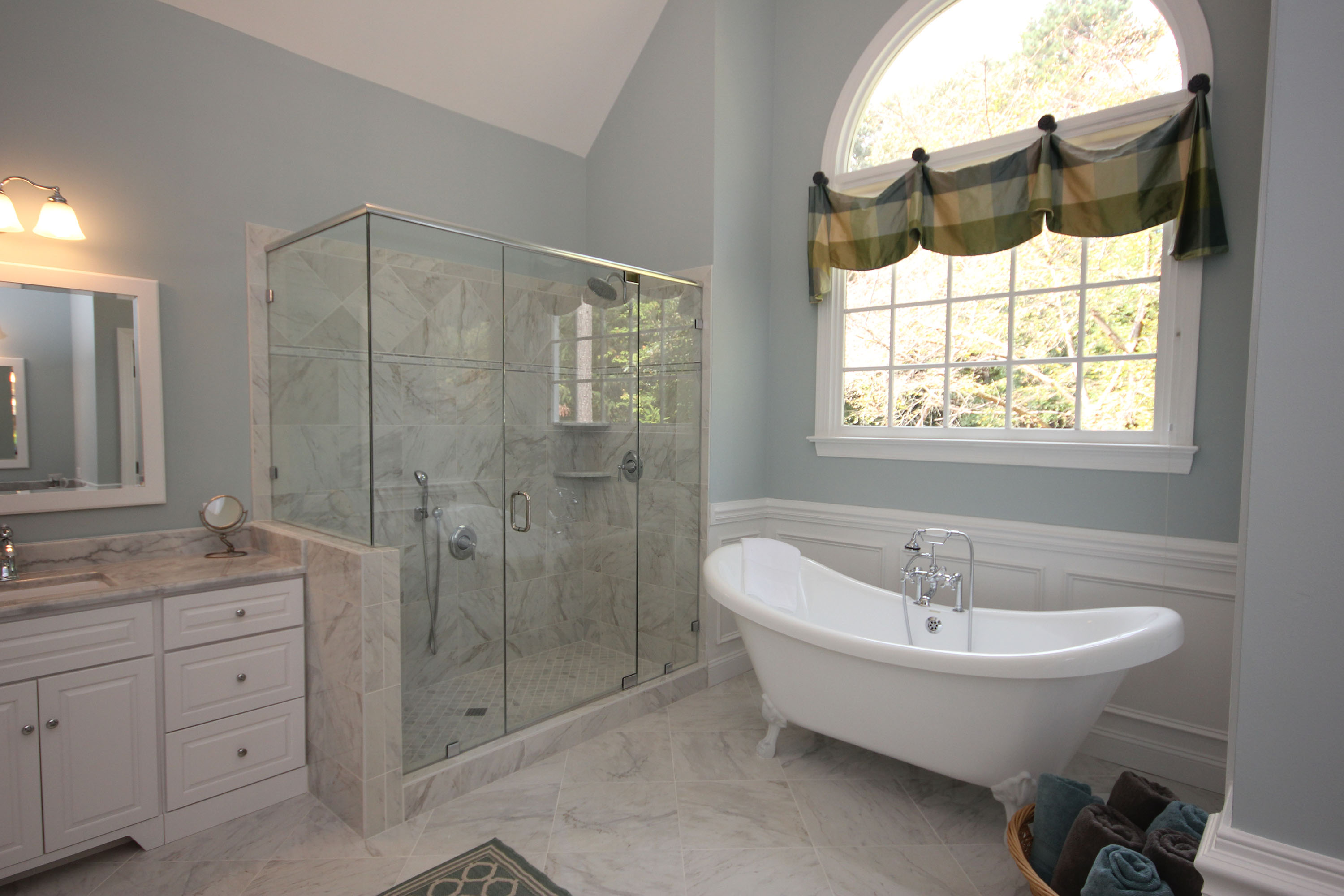 top shower remodel cary view image