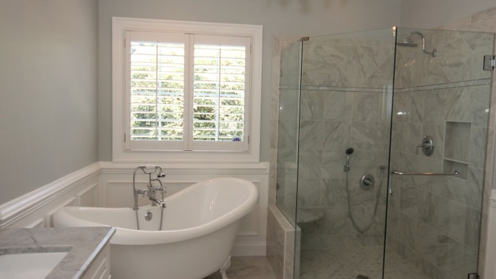 Freestanding clawfoot tub Apex Bath remodel
