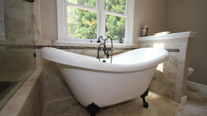 Classic Clawfoot bathtub Raleigh Remodelling