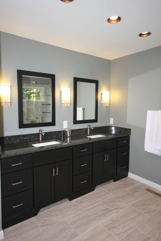 Dark Bath Cabinets by The Bath Remodeling Center LLC