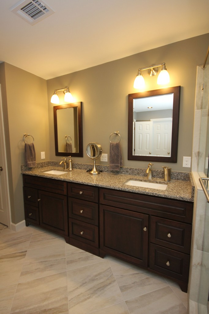 Dark Bath Cabinets By The Bath Remodeling Center LLC Awesome Bathroom Remodel Raleigh Concept