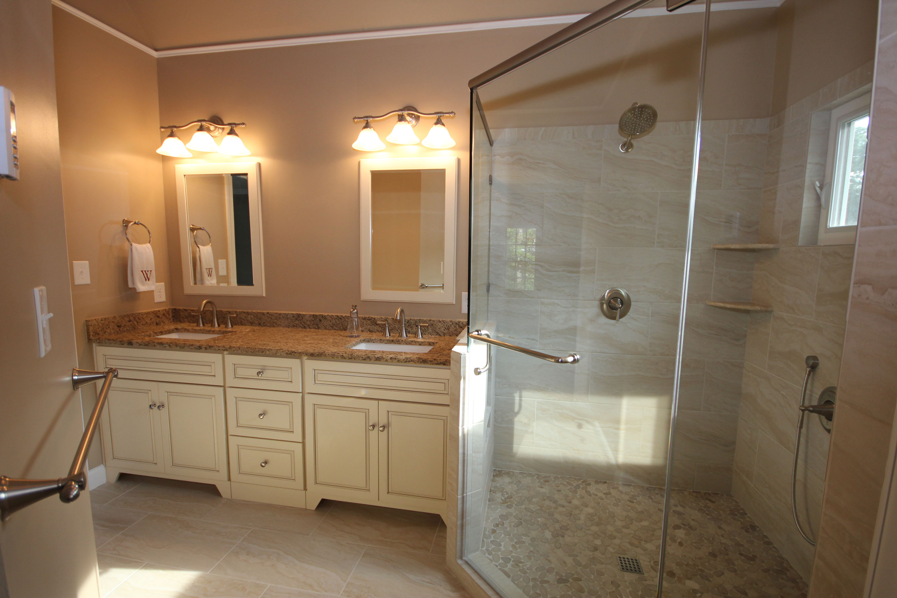light colored custom cabinets the bath remodeling center