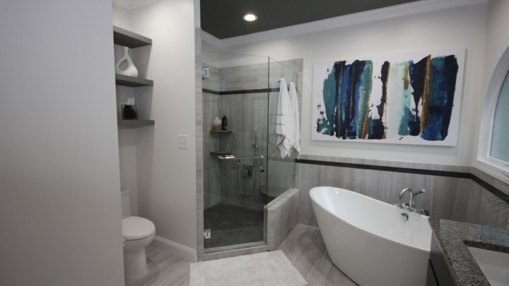 Raleigh Bath Remodelling with freestanding tub