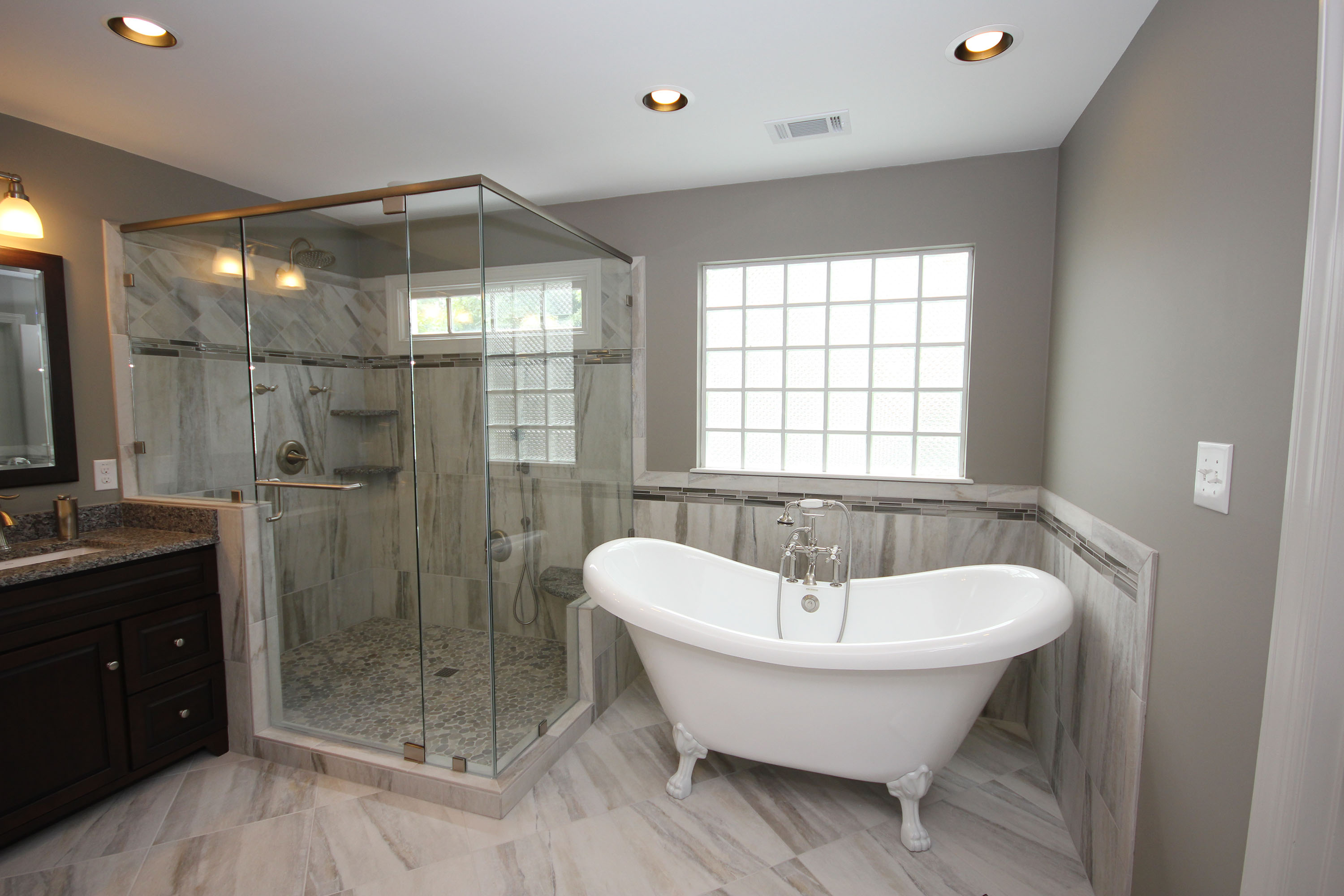 Freestanding bathtubs by cary bathroom remodeling - Small bathroom remodel with tub ...